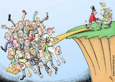 a crise redistribuidora de riquezas entre ricos